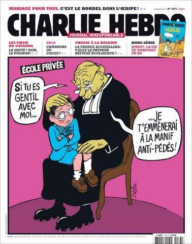 Una vignetta di Charlie Hebdo