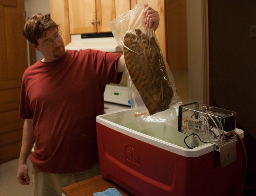 Come cucinare una bisteccona sottovuoto