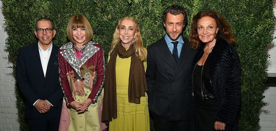 Jonathan Newhouse, Anna Wintour, Editor-in-Chief of Vogue Italia Franca Sozzani. Foto: Getty Image