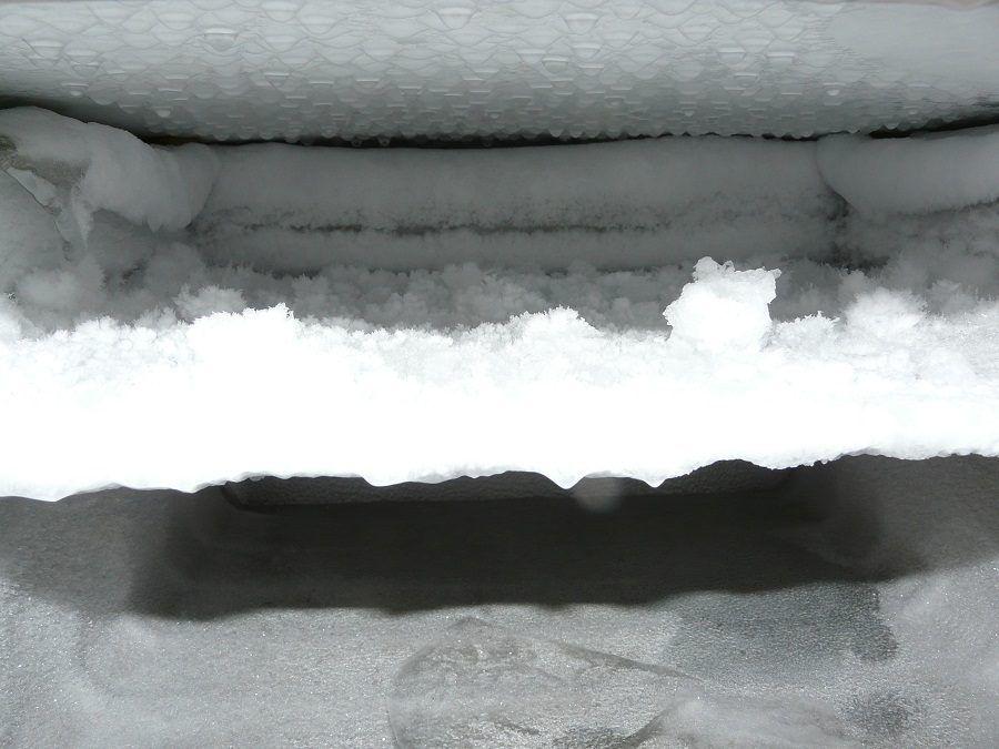 C'è forse un po' troppo ghiaccio in questo congelatore!