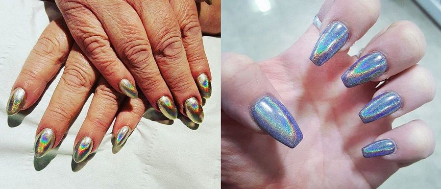 Le unghie in stile Holographic Nails