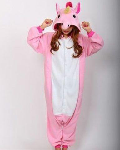 Kigurumi, unicorno rosa