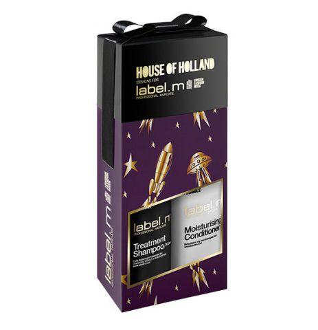 label.m House of Holland Moisturising Treatment Duo, con shampoo e balsamo. 26.25 sterline.