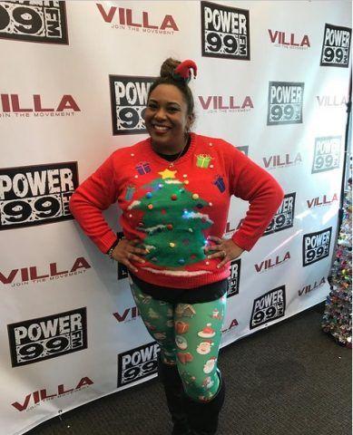 Ok ai leggings di Natale, però non così
