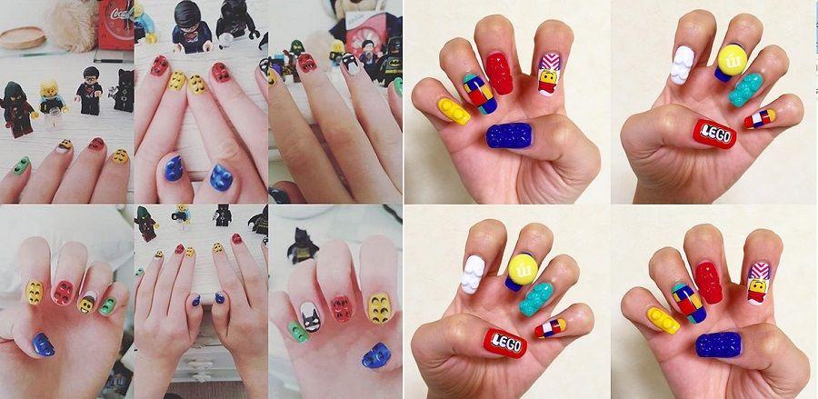 Qualche esempio creativo di Lego Nail Art