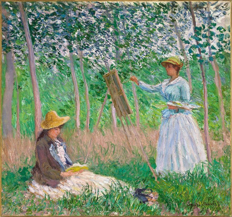 monet NEL BOSCO A GIVERNY