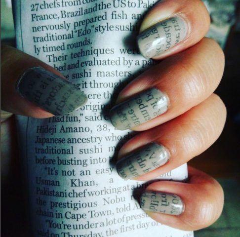 Newspaper Nail Art: unghie come giornali