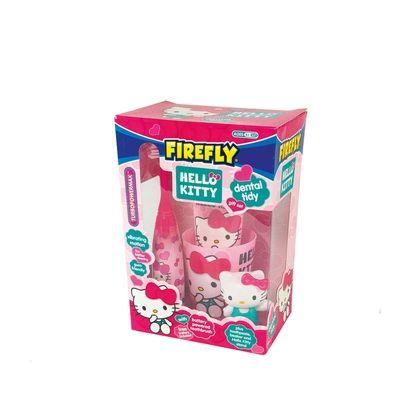 Cofanetto Oral Care Hello Kitty, con spazzolino turbo, dentifricio, bicchiere, personaggio 3D. 10,90 euro.