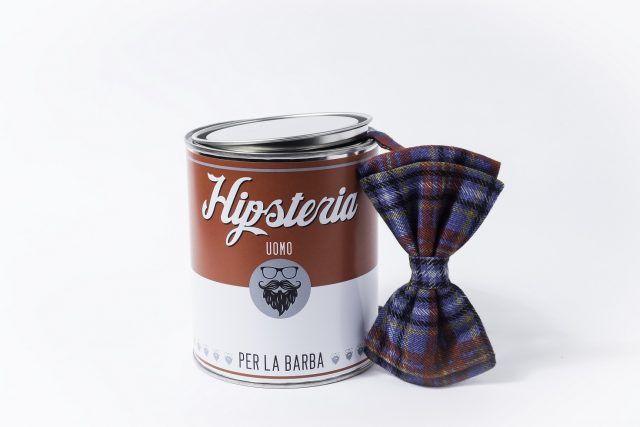 Hipsteria, linea di prodotti per la cura della barba, Papillon: cuciti a mano e più grandi per essere visibili sotto la barba.