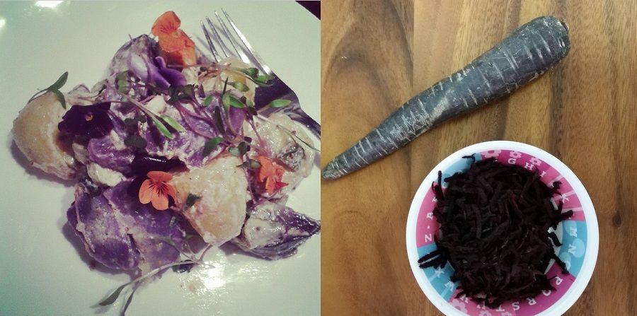 Patate viola e carote viola/nere