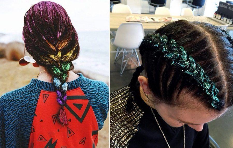 Diversi modi di creare i Rainbow Glitter Hair