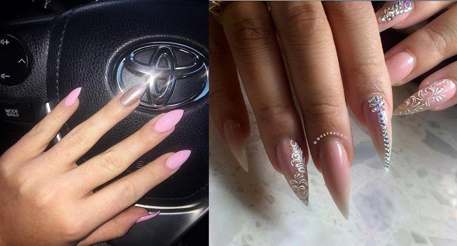 L'aspetto finale delle unghie a stiletto deve essere questo