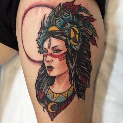 Tatuaggi ispirati agli Indiani d'America