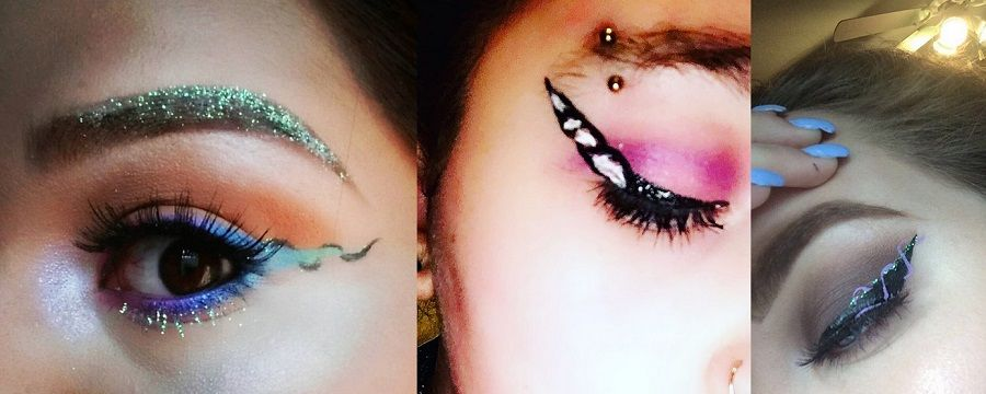 Così appaiono gli occhi con il make up unicorno