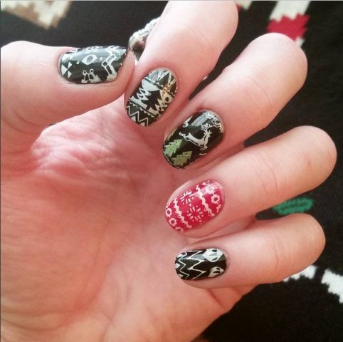 Ugly Sweater Nails, renne