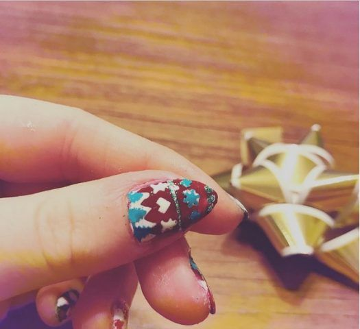 Ugly Sweater Nails, alberi di Natale