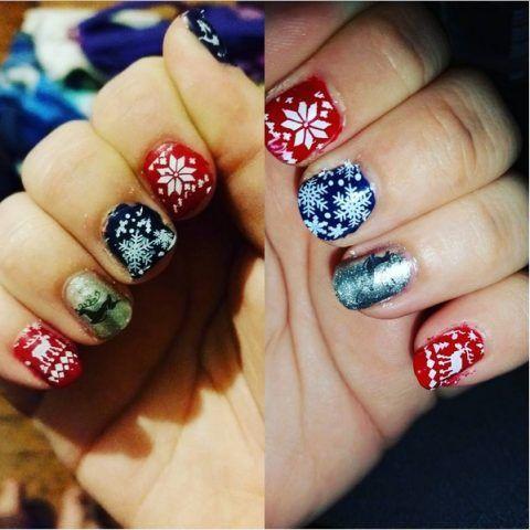 Ugly Sweater Nails: maglioni di Natale sulle unghie