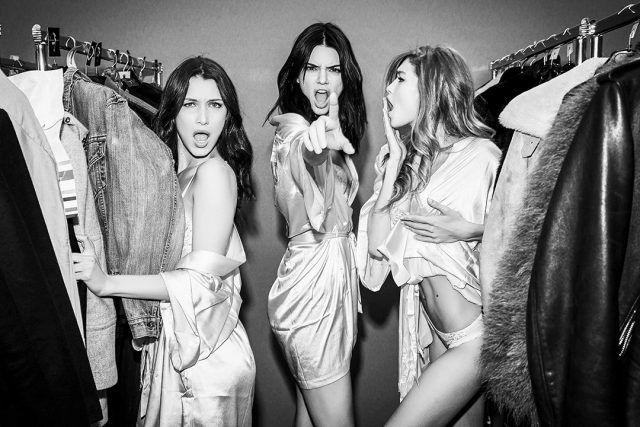 Victoria's Secret Fashion Show 2016, Gigi e Bella Hadid con Kendall Jenner