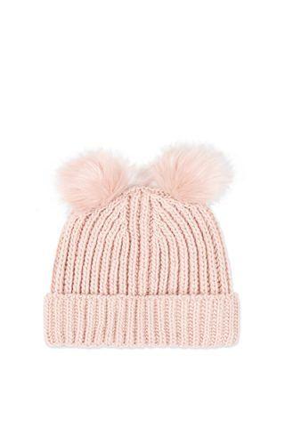 Beanie rosa con orecchie di Topshop