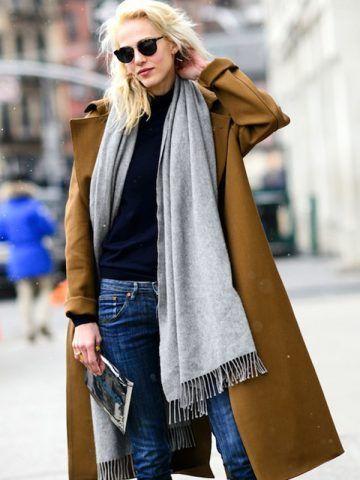 Cappotto color cappello e jeans - Dal blog Le Fashion