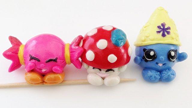 Pupazzetti a forma di caramella, fungo e puffo