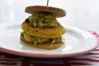 Quinoa burger con la verza