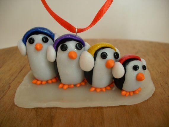 Decorazioni a forma di pinguino