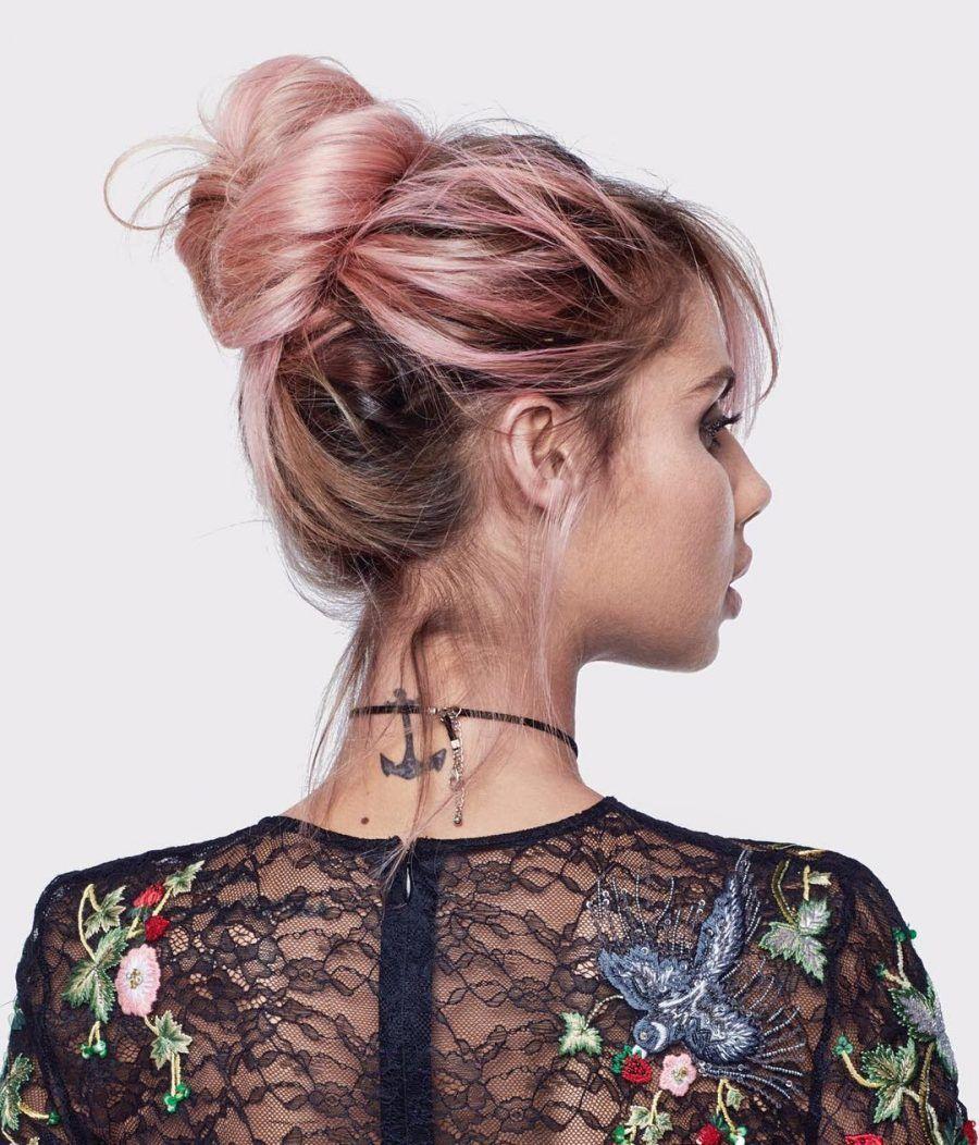 Rose Gold Hair Capelli Rosa Con Sfumature Dell Oro Bigodino
