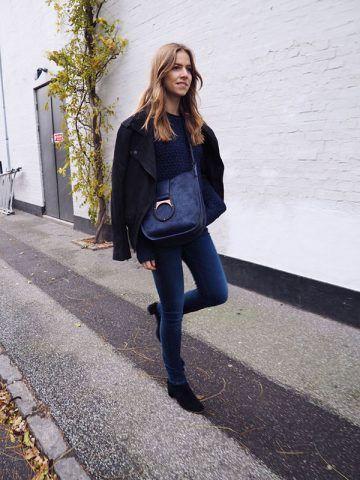 Jeans e stivaletti - Dal blog Trine's Wardrobe