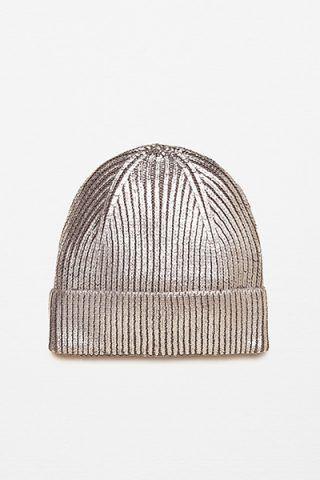Beanie metallizzato di Zara