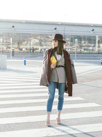 Cappotto e jeans cropped - Dal blog Seams for a Desire