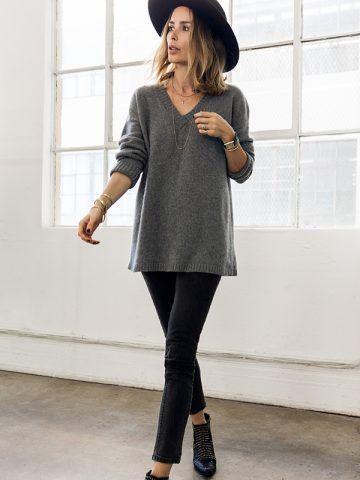 Jeans skinny e stivaletti - Dal blog Anine's World