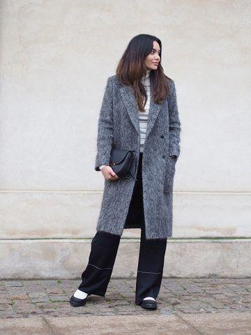 Cappotto grigio e pantaloni palazzo - Dal blog By Funda
