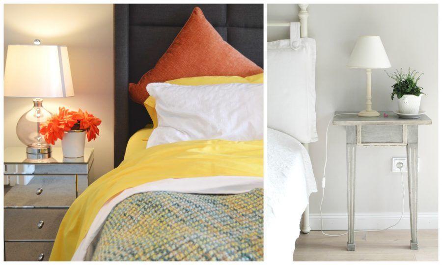 una camera letto ben illuminata