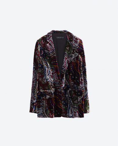 Blazer velluto a fantasia Zara €89,95