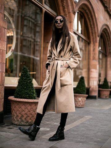 Cappotto color cammello e biker boots - Dal blog Bisous Natasha