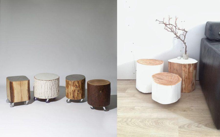 Tavolino da salotto - tronco d'albero
