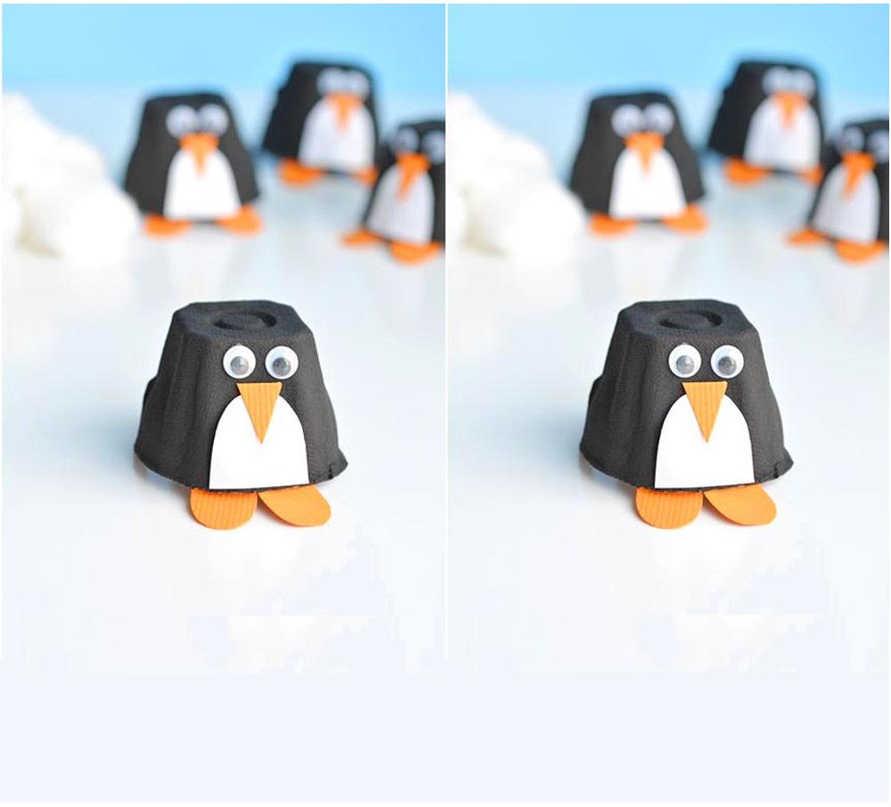 Pinguini di cartone