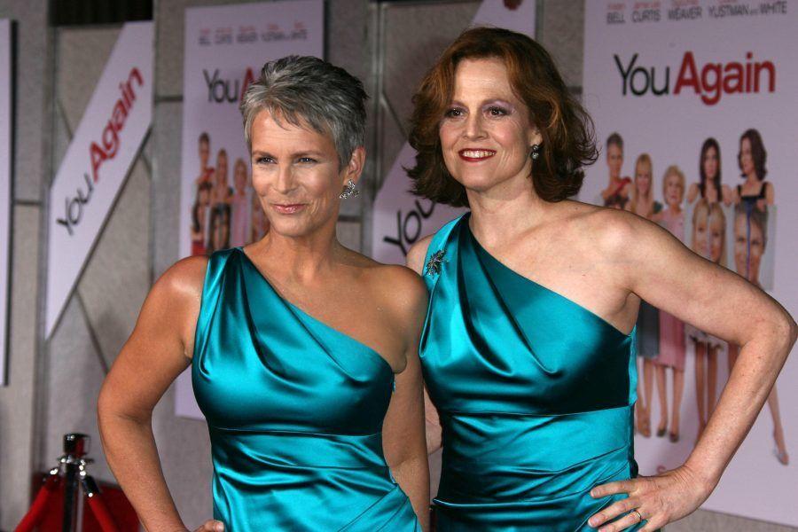 Jamie Lee Curtis e Sigourney Weaver alla premiere del film Ancora Tu!