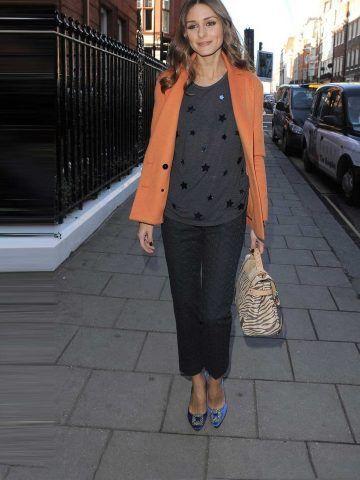 Olivia Palermo indossa Manolo Blahnik.
