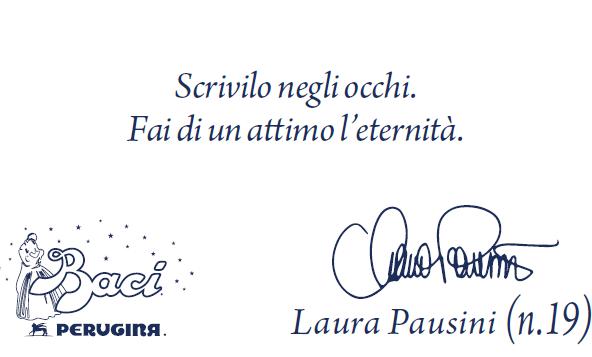 I Baci Perugina autografati Laura Pausini!