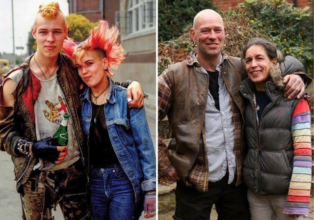 A sinistra 30 anni fa, a destra oggi