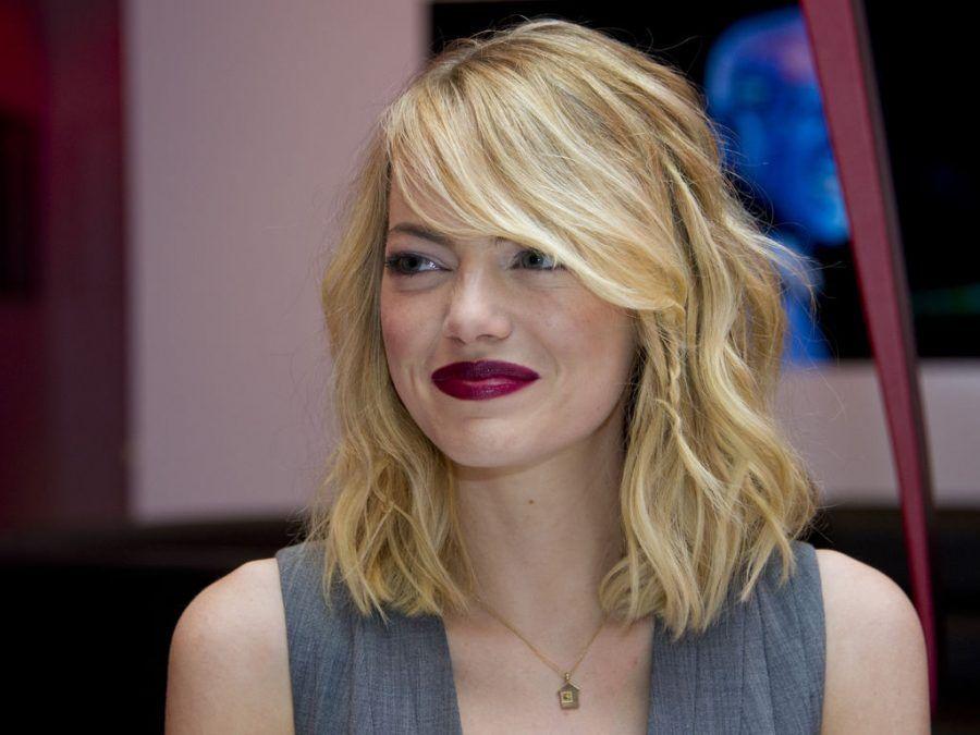 Il carrè spettinato di Emma Stone