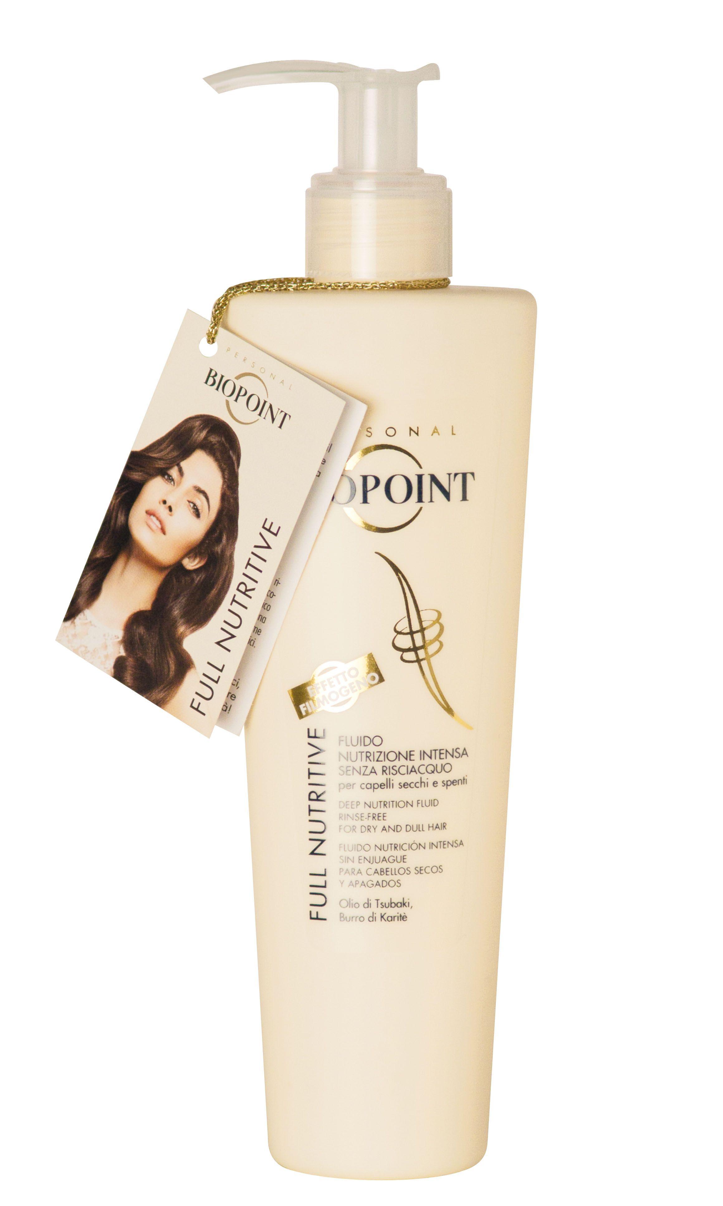 Full Nutritive di Biopoint è un prezioso fluido che apporta extra nutrimento e morbidezza ai capelli secchi e sciupati.