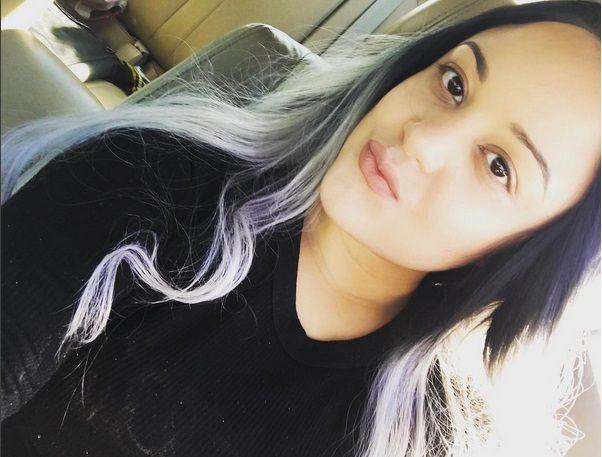 Grey Ombré su capelli lunghi