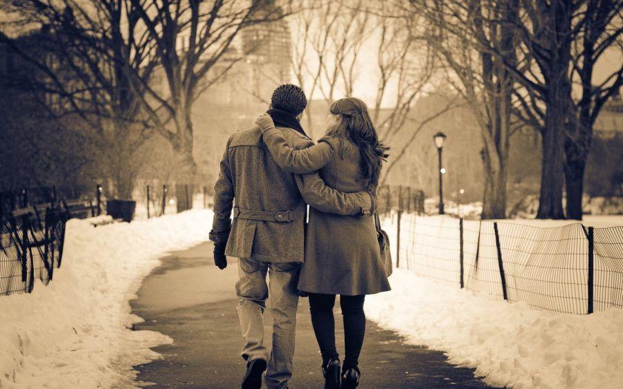...camminare nella neve in due è più bello...