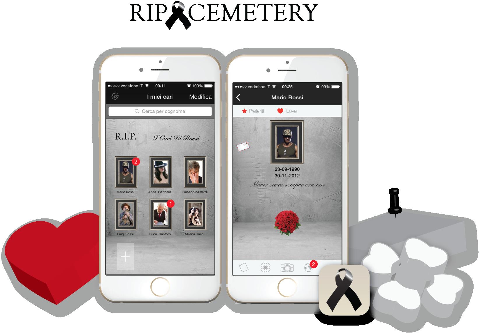 Un'app per ricordare chi non c'è più