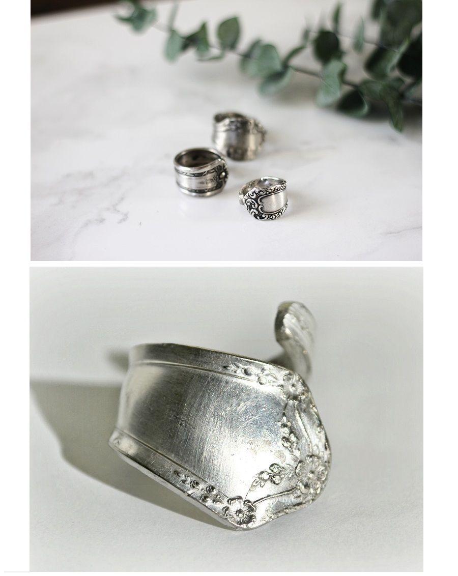 Popolare Anelli d'argento con delle vecchie posate | Bigodino UB36
