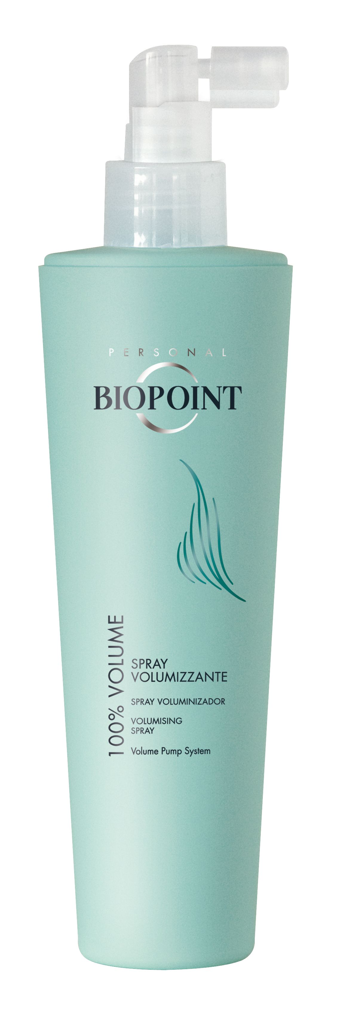 Lo Spray Volumizzante Biopoint dall'azione tonificante e corporizzante.