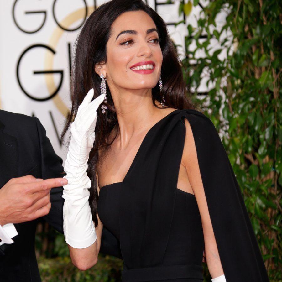 Amal Clooney ai Golden Globes 2015